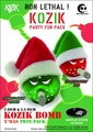Kozik Merry Mini Bomb Set Green And Red