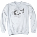 Kung Fu Panda adult crewneck sweatshirt Face Off White
