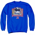Kung Fu Panda adult crewneck sweatshirt Kung Furry Royal Blue