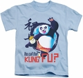 Kung Fu Panda kids t-shirt Kung Fu light blue
