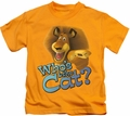Kung Fu Panda kids t-shirt Who's The Cat gold
