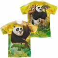 Kung Fu Panda mens full sublimation t-shirt Po And Friends