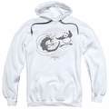 Kung Fu Panda pull-over hoodie Face Off adult White