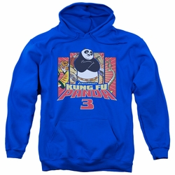 Kung Fu Panda pull-over hoodie Kung Furry adult Royal Blue