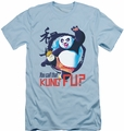 Kung Fu Panda slim-fit t-shirt Kung Fu mens light blue