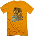 Kung Fu Panda slim-fit t-shirt Whos The Cat mens gold