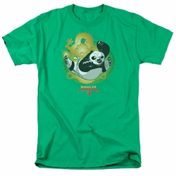 Kung Fu Panda t-shirt Drago Po mens kelly green