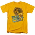 Kung Fu Panda t-shirt Who's The Cat mens gold