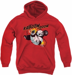 Kung Fu Panda youth teen hoodie Kaboom Of Doom red