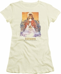 Labyrinth juniors t-shirt Movie Poster cream