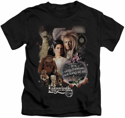 Labyrinth kids t-shirt 25 Years Of Magic black