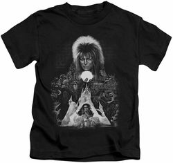 Labyrinth kids t-shirt Castle black