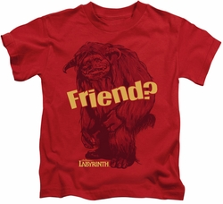 Labyrinth kids t-shirt Ludo Friend red