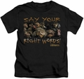 Labyrinth kids t-shirt Say Your Right Words black