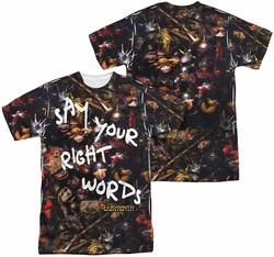 Labyrinth mens full sublimation t-shirt Right Words