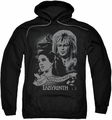 Labyrinth pull-over hoodie Anniversary adult black