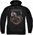 Labyrinth pull-over hoodie Globes adult black