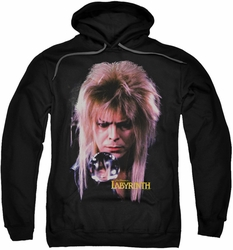 Labyrinth pull-over hoodie Goblin King adult black