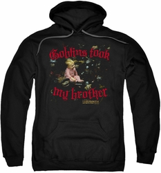 Labyrinth pull-over hoodie Goblins Took My Brother adult black