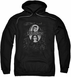 Labyrinth pull-over hoodie Maze adult black