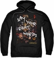 Labyrinth pull-over hoodie Right Words adult black