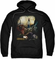 Labyrinth pull-over hoodie Sarah & Ludo adult black