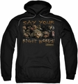 Labyrinth pull-over hoodie Say Your Right Words adult black