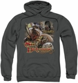 Labyrinth pull-over hoodie Sir Didymus adult charcoal
