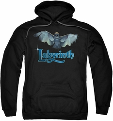 Labyrinth pull-over hoodie Title Sequence adult black