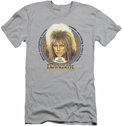 Labyrinth slim-fit t-shirt 25 Years mens silver
