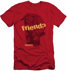 Labyrinth slim-fit t-shirt Ludo Friend mens red