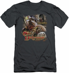 Labyrinth slim-fit t-shirt Sir Didymus mens charcoal