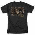 Labyrinth t-shirt Say Your Right Words mens black