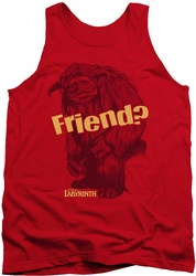 Labyrinth tank top Ludo Friend mens red