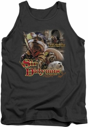 Labyrinth tank top Sir Didymus mens charcoal