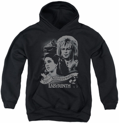 Labyrinth youth teen hoodie Anniversary black