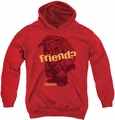 Labyrinth youth teen hoodie Ludo Friend red