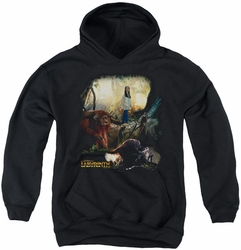 Labyrinth youth teen hoodie Sarah & Ludo black