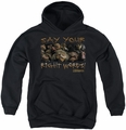 Labyrinth youth teen hoodie Say Your Right Words black