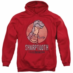 Land Before Time pull-over hoodie Sharptooth adult red