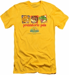 Land Before Time slim-fit t-shirt Prehistoric Pals mens yellow