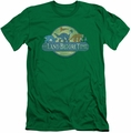 Land Before Time slim-fit t-shirt Retro Logo mens kelly green