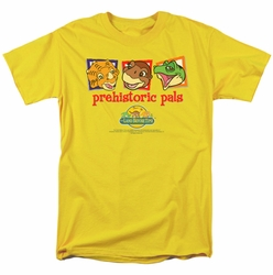 Land Before Time t-shirt Prehistoric Pals mens yellow