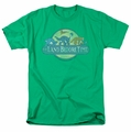 Land Before Time t-shirt Retro Logo mens kelly green