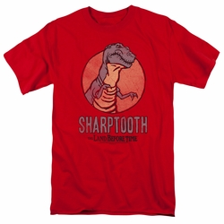 Land Before Time t-shirt Sharptooth mens red