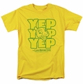 Land Before Time t-shirt Yep Yep Yep mens yellow