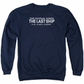 Last Ship adult crewneck sweatshirt Find The Cure navy