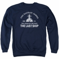 Last Ship adult crewneck sweatshirt Open Water navy
