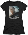 Last Ship juniors sheer t-shirt Captain black