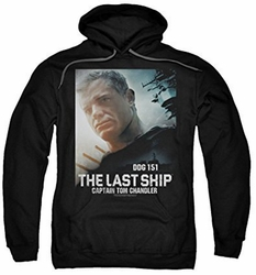 Last Ship pull-over hoodie Captain adult black